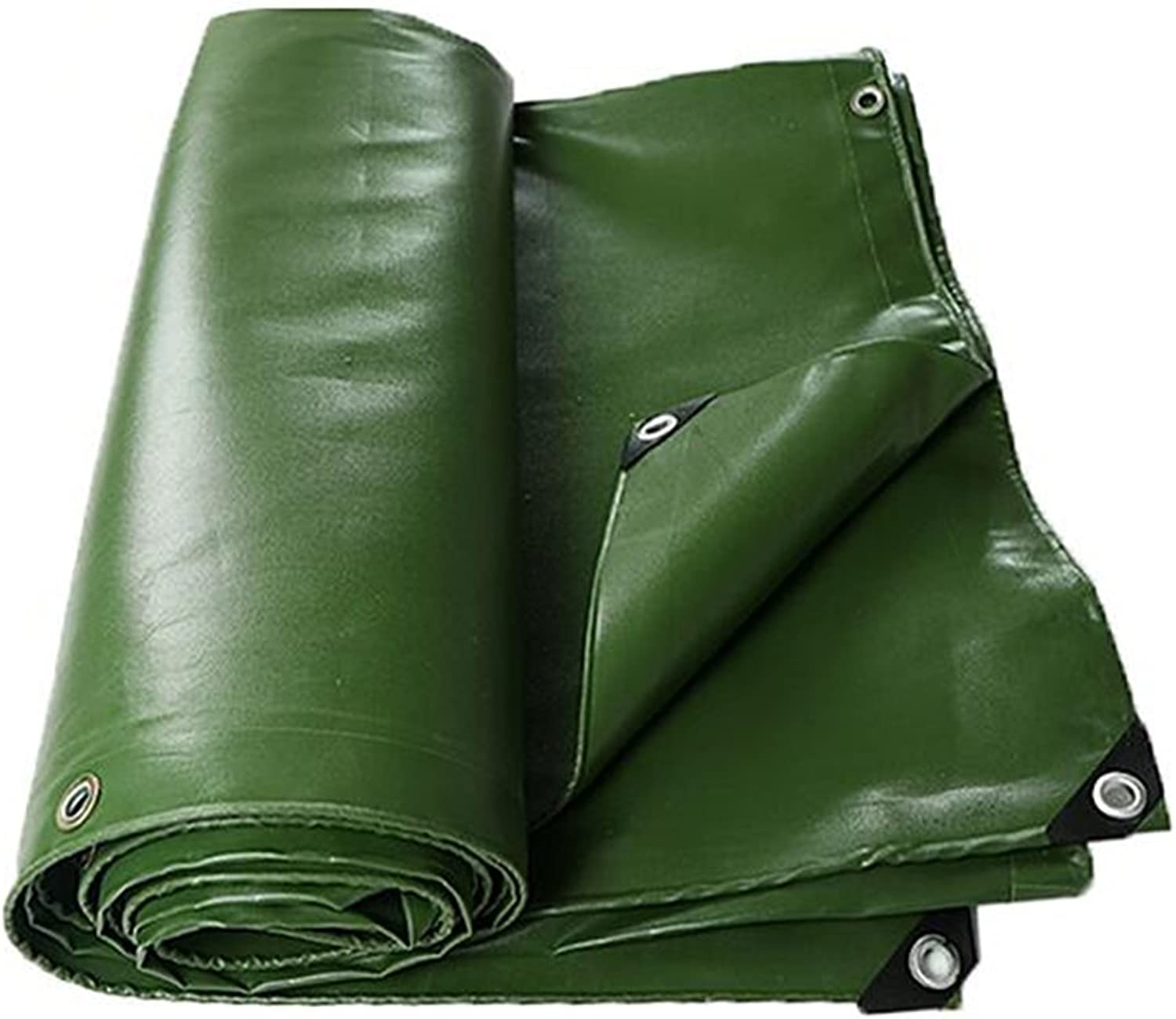 ZRTarps Tarpaulin Thick Waterproof Cloth Canvas Truck Tarpaulin Linoleum Sun Shade Cloth WearResistant Shed Cloth PVC Waterproof 0.7MM  700 g M2 Outdoor Equipment (color   Green, Size   4x6M)