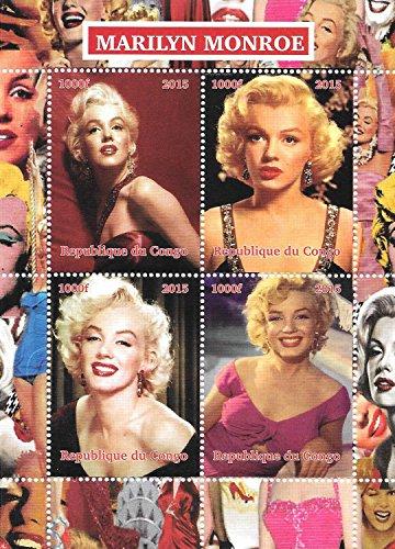 Briefmarken für Sammler - Marilyn Monroe Weibliche Movie Star MNH Miniatur-Blatt / Kongo / 2015