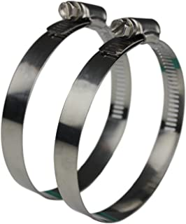 Ronteix Flexible Worm Gear Hose Clamp Full 304 Stainless Steel Clamps (70-90mm)
