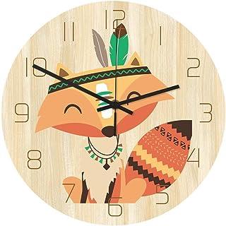 Zacheril Reloj De Pared De Números Reloj de Pared de Silencio Patrón Reloj de Pared de Cuarzo Reloj de Pared Creativo de F...