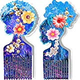 Afro Pick Mold,Funstorm 2pcs Comb Mold for Resin,Unique Afro Resin Mold,Durable Afro Female Hair Pick Comb Resin Molds for Women's Curly Hair