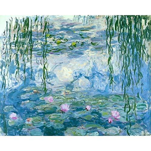 DIY para colorear por números Pinturas de Claude Monet Tipos de lirios de agua Impresión Imágenes de loto Pinturas por números A6 30x30cm