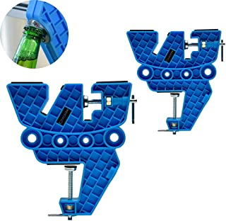 XCMAN Ski Vise Snowboard for Tuning,Waxing and Repair,Set of Non-Slip Vice Grips with Horizontal and Vertical and Tilt Wor...