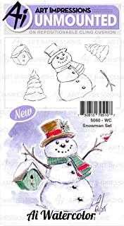 Art Impressions 5060 Snowman - Watercolour Stamp