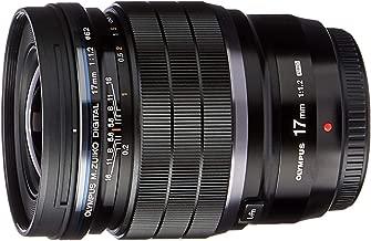 Olympus M.ZUIKO Digital ED Lightweight F1.2 Wide Angle Lens, Black (17mm F1.2 PRO)