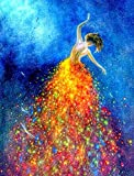 DIY Oil Painting by Numbers, 16 x 20 inch Paint by Numbers Kit with Paintbrushes and Acrylic Pigment - Dancing Girl