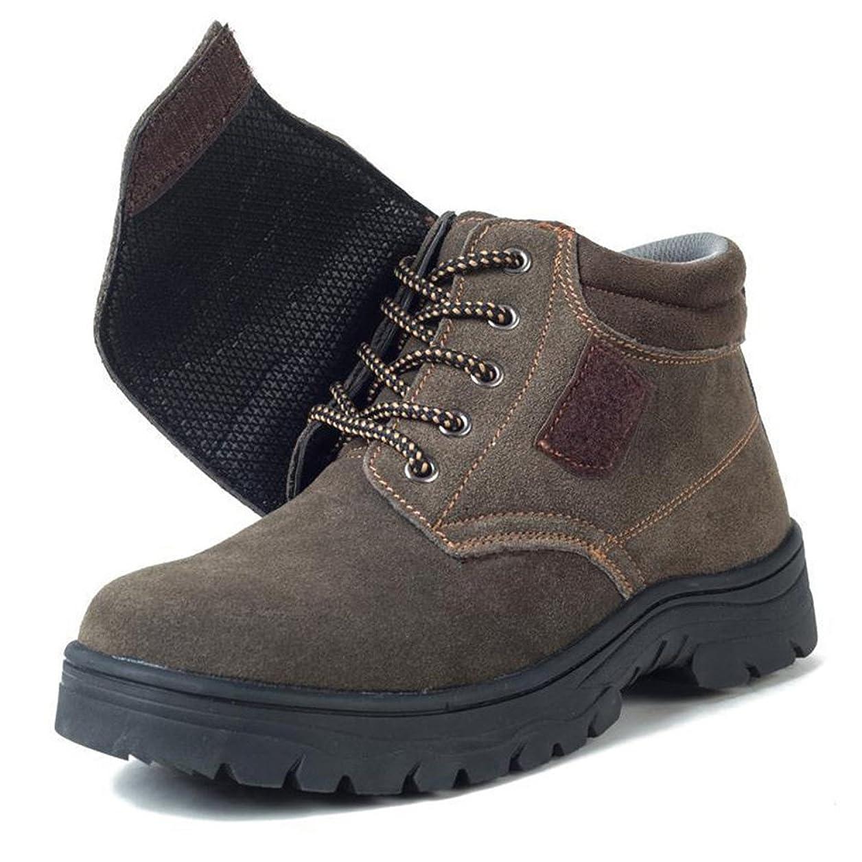 転送少年爆風作業靴 安全靴 マジックテープ 紐 2ways 履きやすい ブーツ メンズ レディース ハイカット スウェード スチール先芯 防水 防滑 耐油 軽量 ゲル メッシュ ウレタン二層底 鋼製ミッドソール 23.0cm-28.0cm