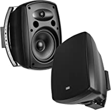 "OSD Audio 8"" Surface Mount Patio Speaker Pair – Indoor/Outdoor Stereo, Black – AP850"