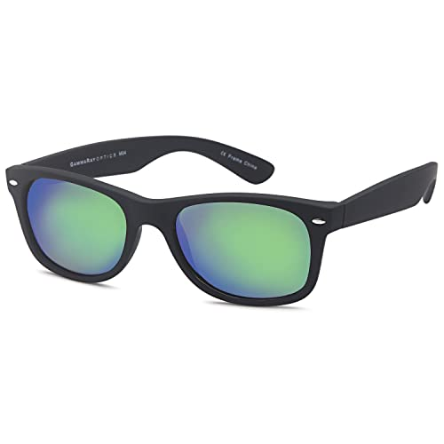 51629996bad0 GAMMA RAY Polarized UV400 Classic Style Sunglasses with Mirror Lens and  Multi Pack Options