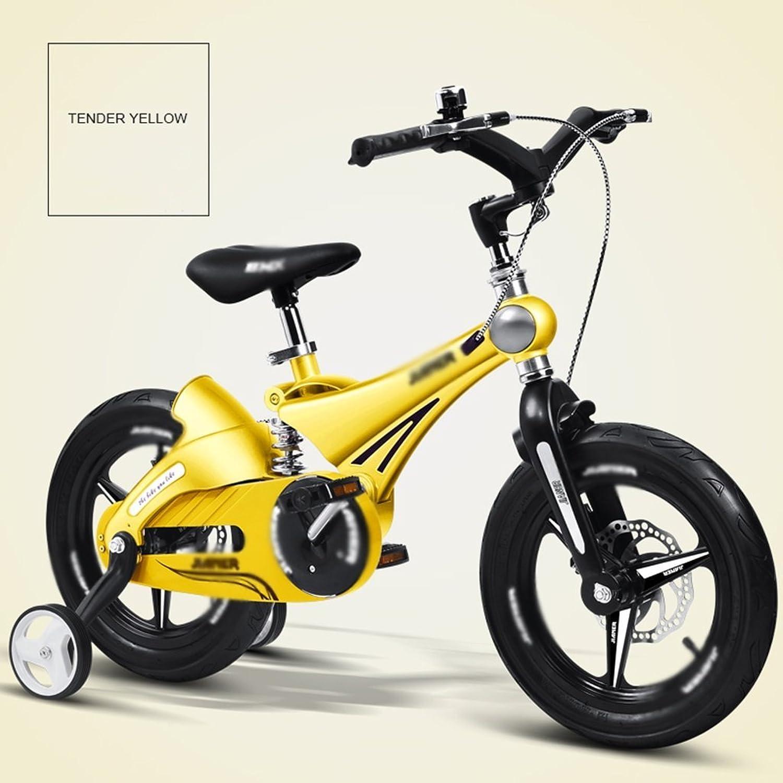 te hará satisfecho Bicicletas Bicicleta Infantil de aleación de magnesio magnesio magnesio Niños de 3-6 años de Edad Bicicleta de Hombres y Mujeres Amortiguador de bebé (Color  Amarillo, Tamaño  12 Pulgadas)  Venta en línea precio bajo descuento