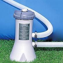 WRQ Bomba De Filtro Piscina - Depuradora Cartucho Filtros, Filtro para Estanques Y Piscinas, 15W / 110-240 V