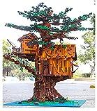 yui casa de muñecas miniaturas Bloques de construcción Ensamblar ladrillos Juguetes educativos Niños El árbol Casa Modelo con luces LED muebles de casa de muñecas miniatura