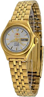 Orient FNQ1S001W Women's Gold Tone Tri Star Silver Dial Automatic Watch