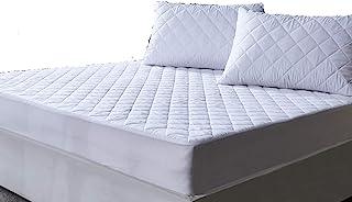 AIMS Protector de colchón acolchado impermeable de 40 cm extra profundo, funda ajustable de microfibra, sábana bajera ajustable, faldas elásticas (King)