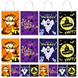 16 Packs Halloween Bags Party Favors for Kids, Reusable Halloween Trick or Treat Goodie Candy Bags,...
