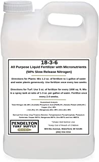 18-3-6 Liquid Fertilizer (50% SRN & Micronutrients) (2.5 Gallons)