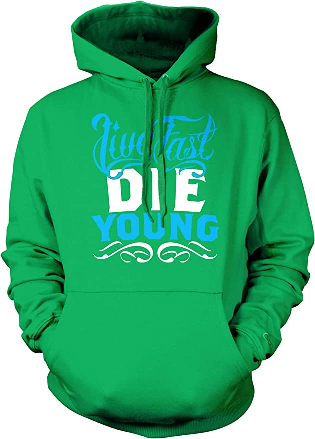 Live Fast Love Hard Die Young Hipster Vintage Retro Swag Tattoo Mens Sweatshirt