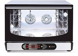 Horno eléctrico de aire caliente (digital), 4 bandejas, EN & GN