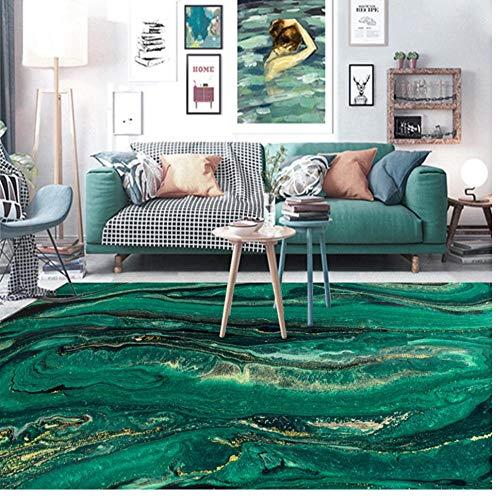 Alfombra de Oro Verde con patrón de Agua de mar, Cocina, Sala de Estar, Dormitorio, mesita de Noche, Alfombra, decoración de la habitación, Felpudo