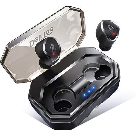 【最先端Bluetooth5.0&IPX7防水】 Bluetooth イヤホン 自動ペアリング 90時間連続駆動 3Dステレオサウンド AAC8.0対応 タッチ型 完全ワイヤレス イヤホン ブルートゥース イヤホン 軽量 Siri対応 左右分離型 片耳 両耳とも対応 マイク内蔵 技適認証済 日本語音声提示 iPhone/iPad/Android対応 (ブラック)