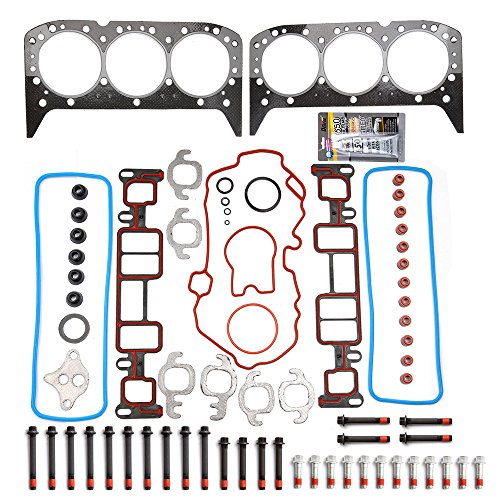 SCITOO Replacement for Head Gasket w/Bolts Kit fit for GMC Sonma Savana for Isuzu Bravada for Cheverolet 4.3L V6 OHV 1996-2006 Automotive Engine Head Gasket Bolts Set