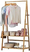 Kledingrek Bamboe Materiaal Hanger Vloerstaand Eenvoudige montage Constructie Beige 4 modellen (kleur: beige, afmeting: A-...
