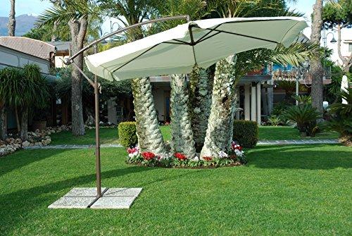 My_garden Luna Ombrellone, 3 Metri di Diametro, Ecrù