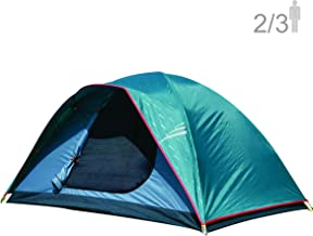 NTK Oregon GT 2 to 3 Person 5 by 7 Foot Outdoor Dome Family Camping Tent 100% Waterproof 2500mm, Easy Assembly, Durable Fabric Full Coverage Rainfly, Micro Mosquito Mesh