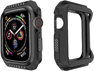 ZAALFC Mire el Parachoques de Shell para Apple Watch 3 2 1 38mm Caso de 42 mm TPU + PC Funda de Armadura para iWatch 4 5 4...