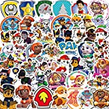 Paw Patrol Autocollant - Tomicy 200PCS Paw Patrol Sticker Lot de Autocollants Kawaii Style pour Ordinateur Portable pour Décoration Vélo, Boîte, Bagages, Moto