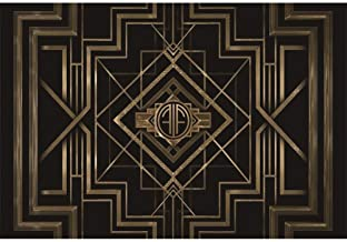 Best Leyiyi 9x6ft Photography Backdrop Great Gatsby Birthday Adults Children Party Black and Gold Golden Banner Photo Studio Booth Background Newborn Baby Shower Decoration Review
