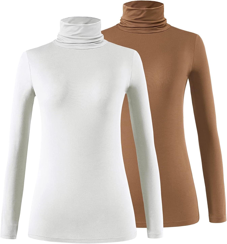 Max 90% OFF Xelky 2021 new Womens Long Sleeve Turtleneck Slim Lightweight Shirt Turtl