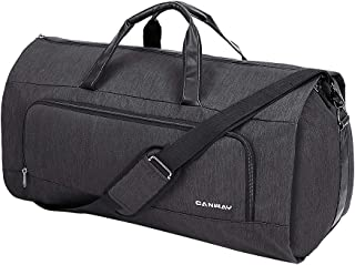 Carry on Garment Bag, 60L Large Travel Duffel Bag with Shoes Compartment Convertible Suit Travel Bag Weekender Bag for Men Women