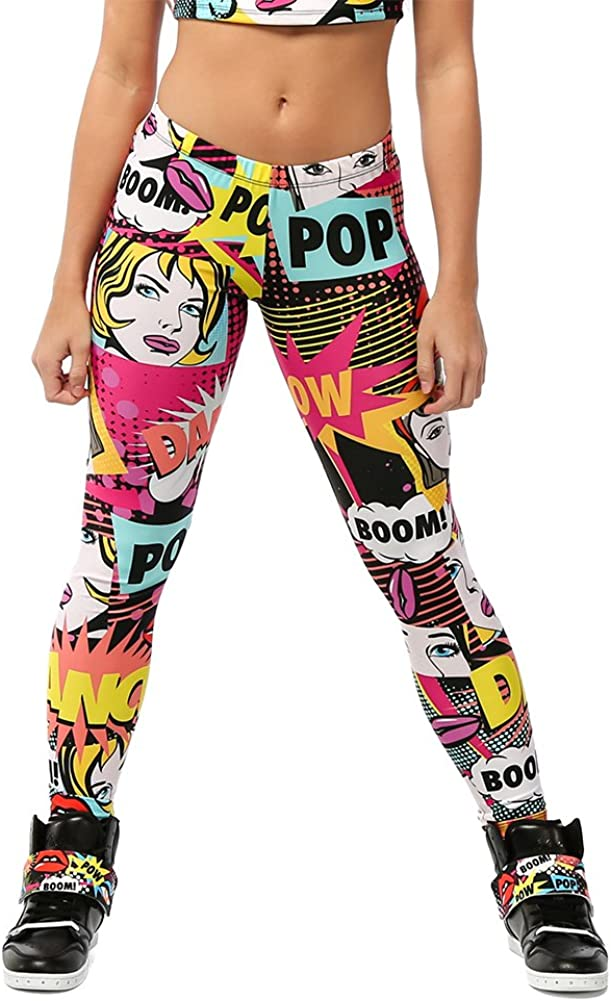 Alexandra Collection Womens Wholesale SEAL limited product Pow Pop Art Workou Athletic Printed