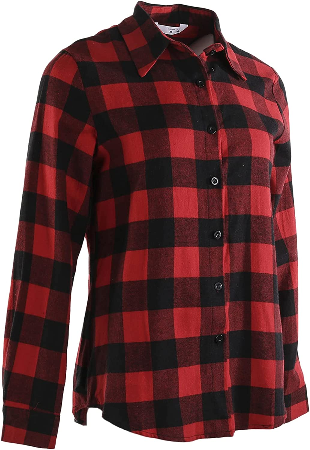 Family Matching Christmas Rapid rise Plaid Blouse Turn Down Sleeve Long Nec Import
