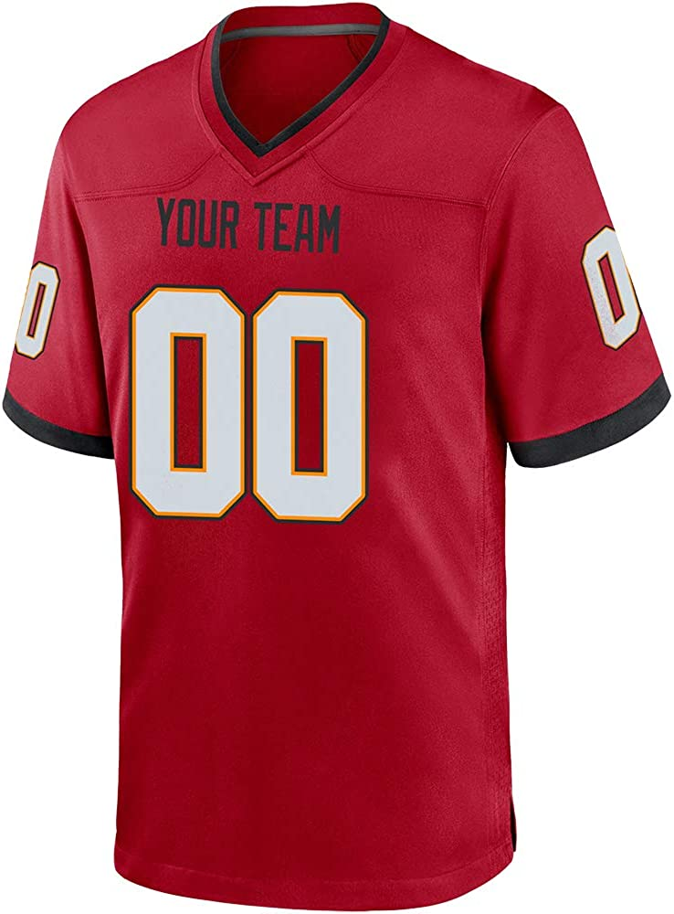 San Diego Mall Custom Red Adult Mesh Replica Trust N Jersey Team Football Embroidered