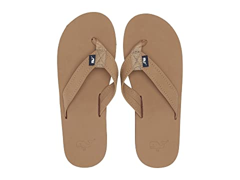 83a6b18f05ee Vineyard Vines Leather Flip Flops at Zappos.com