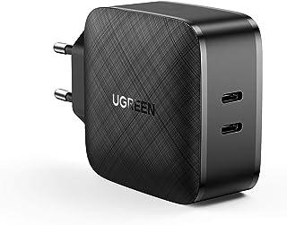 UGREEN 66W USB C Oplader PPS USB C Voeding met 2 Poorten, PD USB C Charger compatibel met MacBook Pro, MacBook Air, iPad P...