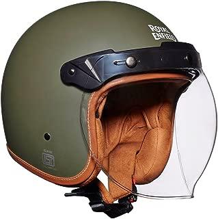 Royal Enfield Battle Green Open Face with Visor Helmet Size (L)60 CM (RRGHEH000005)