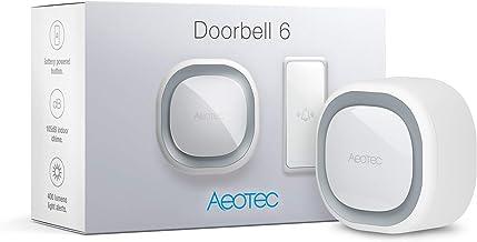 Aeotec Deurbel 6, Z-Wave Plus, Buitendeoorbel, Draadloze Chime, Geluid & Lichtring, 110 dB, Audio en Visuele Alerts, met d...