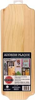 Walnut Hollow Pine Address Plaque, 17