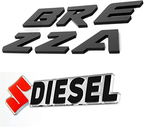 Carmetics Black 3D Logo Bonnet Stickers for Brezza