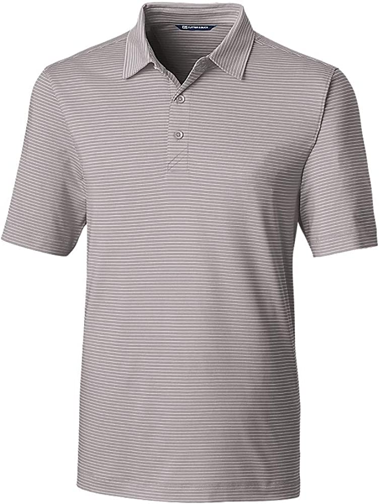 Cutter & Buck Men's Big and Tall Moisture Wicking UPF Drytec Forge Pencil Stripe Polo Shirt