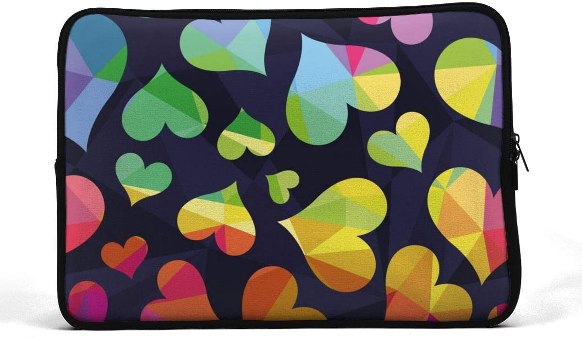 SWEET-YZ Laptop Sleeve Case Polygonal Rainbow Symbolizes The Heart Notebook Computer Cover Bag Compatible 13-15 Inch Laptop