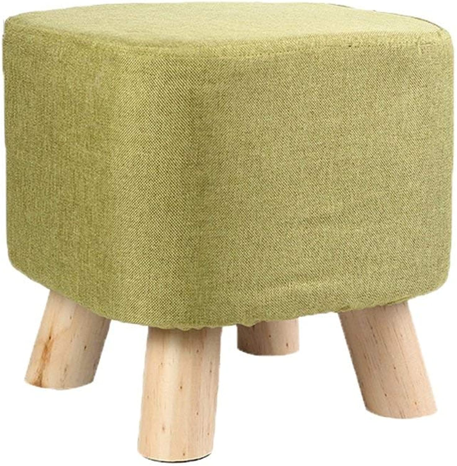 Ronggoutrade shoes Modern Minimalist Living Room Fabric Pedicure Stool Bench Sofa Stool (65  45  41cm - Small Stool (color   D)