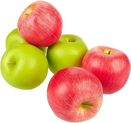 rukauf Lot de 16 Pommes de Fleurs Rouges pour d/écoration de Fruits