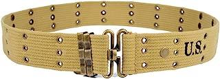 OLEADER WW2 U.S. M1936 Pistol Belt for Gun Holster Magazine Pouch Khaki