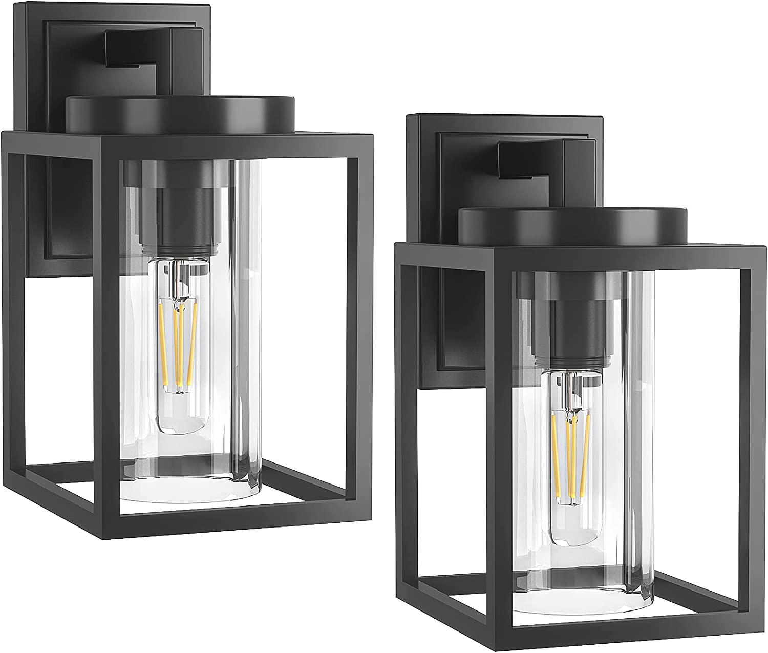 LityMax Exterior Max 59% OFF Wall Sconce Lighting Porch Outdoor Matte Black online shopping