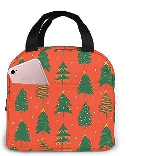 緑のクリスマスツリー ランチバッグ 厚いアルミ箔 ランチ巾着 ランチベルト 大容量 保温弁当 耐久性 弁当バッグ ポータブル 弁当収納 おしゃれな 手提げバッグ 男女兼用