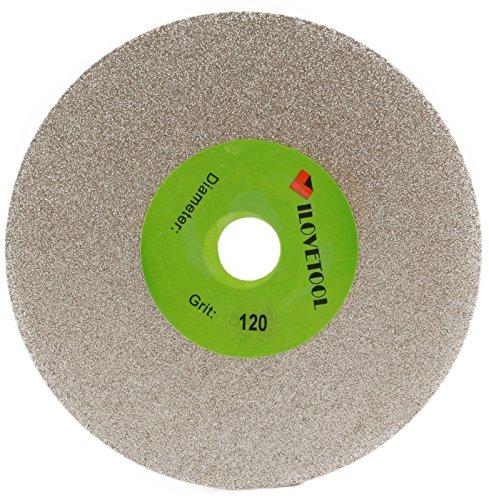 ILOVETOOL 6 inch Diamond Grinding Wheel Flat Lap Disc 120 Grit Coarse Stone Tools